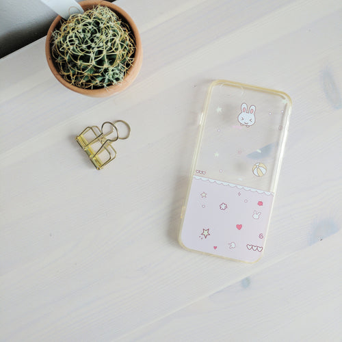 'Baby' Bunny Scribble Print iPhone 6/6S case