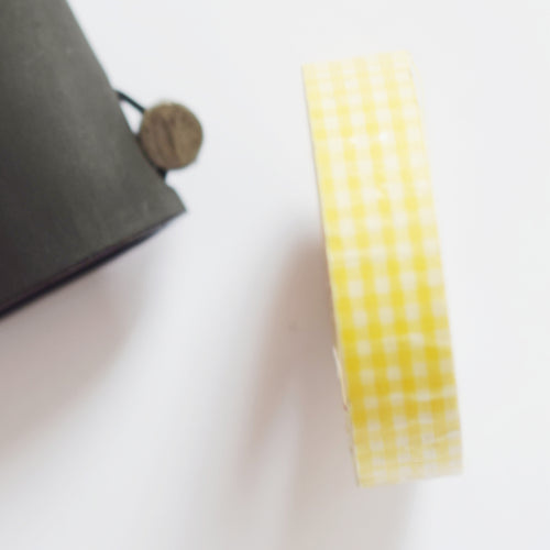 Lemon Yellow Gingham Washi Tape