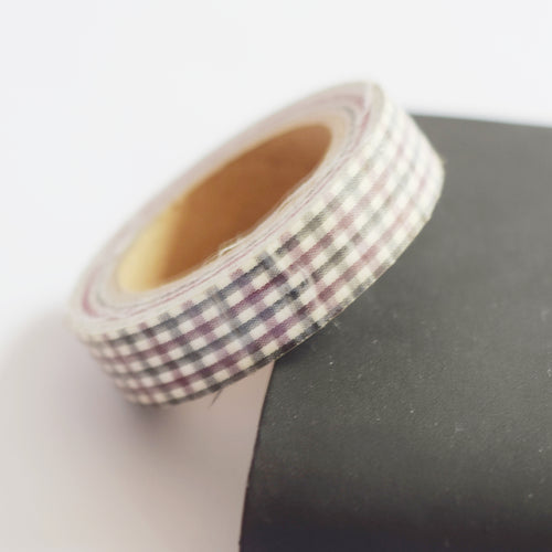 Red and Navy Gingham Washi Tape