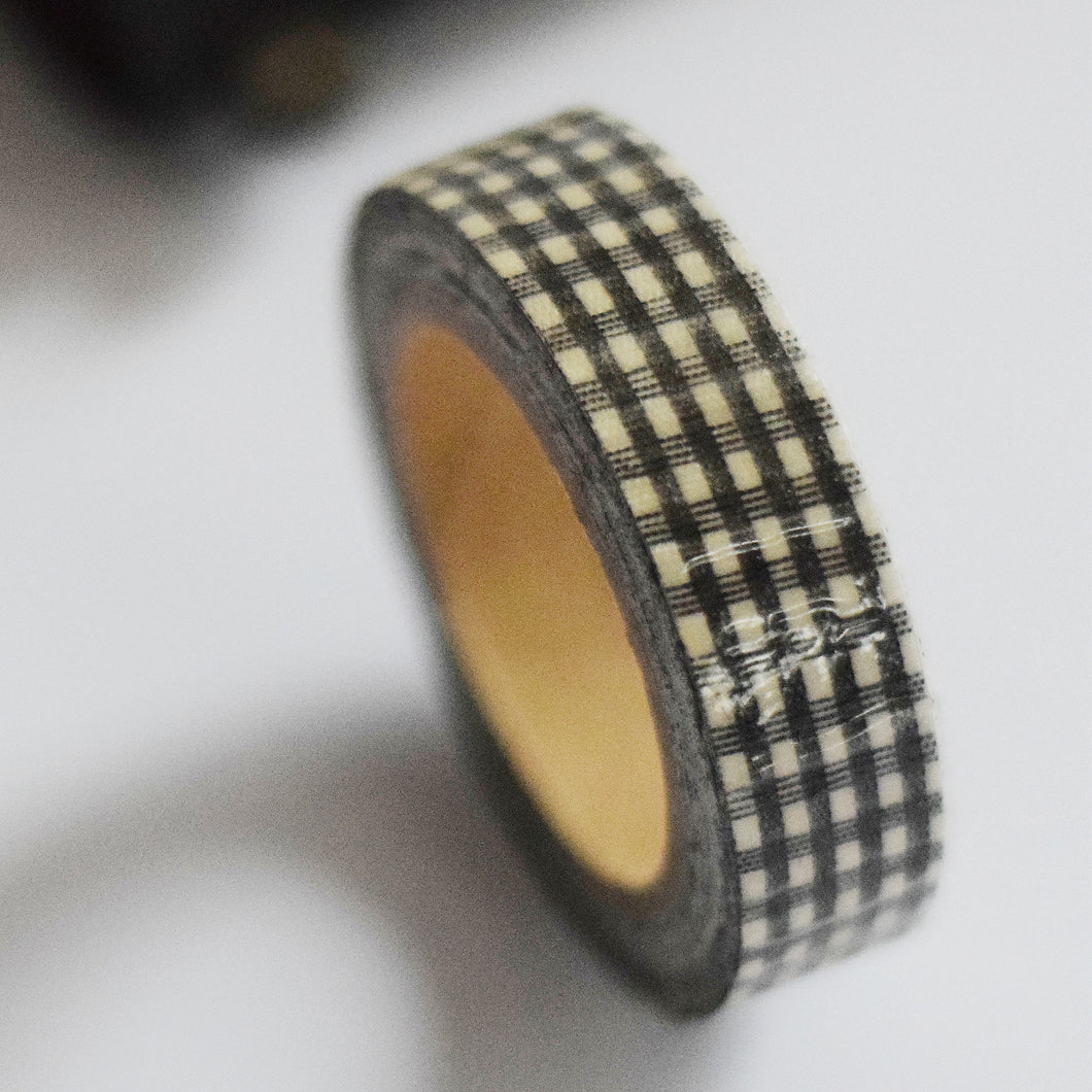 Black and White Gingham Washi Tape