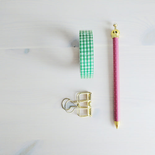 Pink Crown Topped Mechanical Pencil