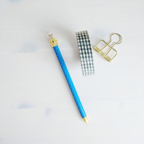 Blue Crown Topped Mechanical Pencil