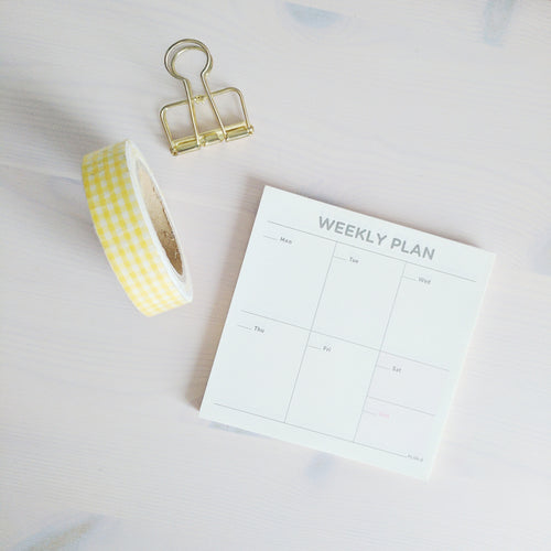 Weekly Plan Mini Notepad