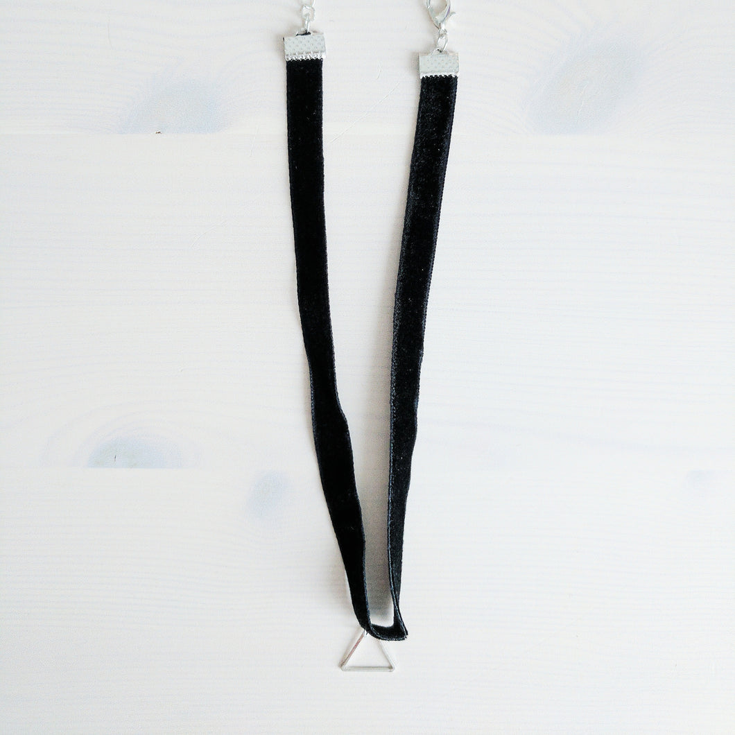 'Aria' Velvet Triangle Choker Necklace