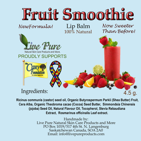Fruit Smoothie Lip Balm