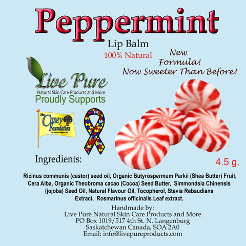 Peppermint/Candy Cane Lip Balm