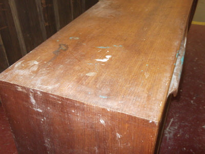 Paint damaged sideboard