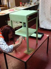 Zoe Painting Bedside Table