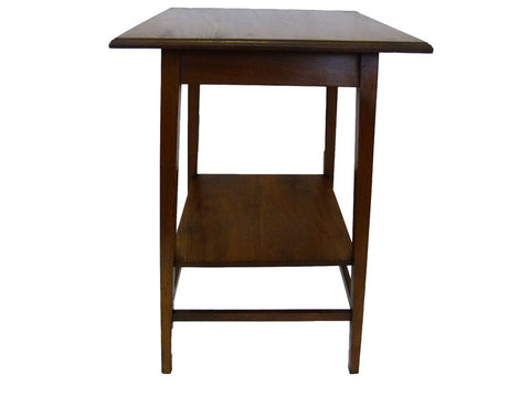 Solid Wood Occassional Table with Shelf - RE:SOURCE Vintage