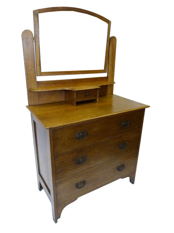 1950s Oak Dressing Table, Chest of Drawers - RE:SOURCE Vintage