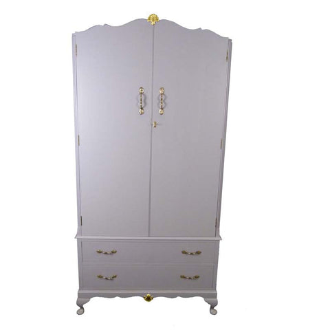 French Style Painted Wardrobe - RE:SOURCE Vintage