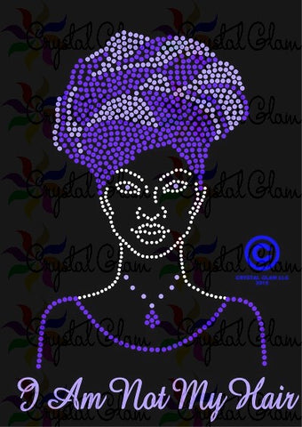 ALOPECIA AWARENESS LADY WITH HEAD WRAP Rhinestone Transfer