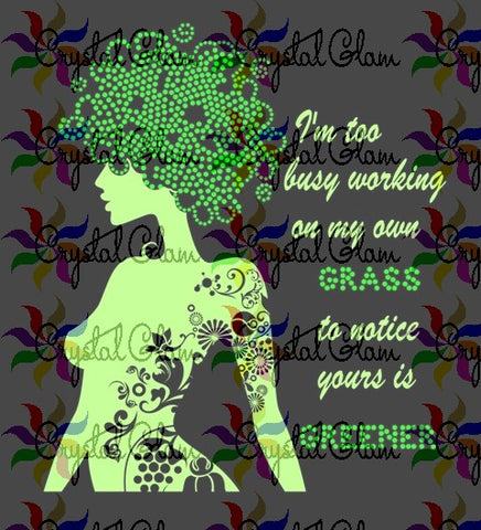GREENER GRASS MIXED MEDIA Rhinestone DownloadFile
