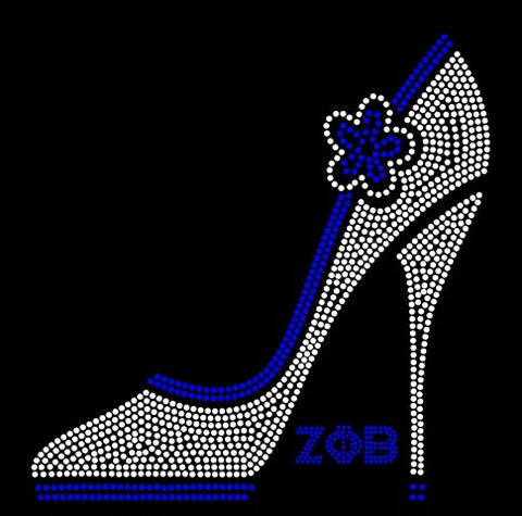 ZETA PHI BETA SHOE RHINESTONE Download File