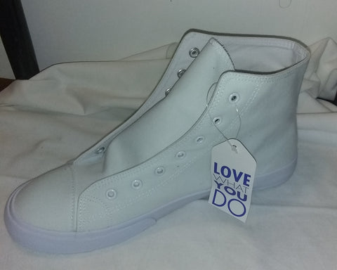 White Hightop Canvas Sneaker