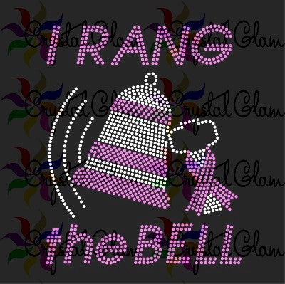 I RANG THE BELL Rhinestone Transfers