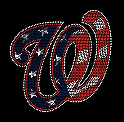 NATIONALS CURLY W Rhinestone Shirt