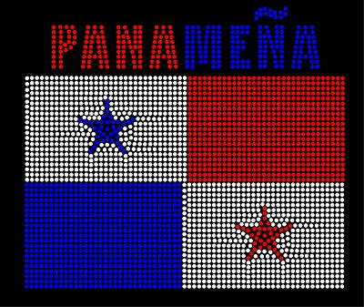 PANAMANIAN FLAG Pre-cut Template