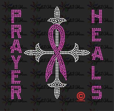 PRAYER HEALS AWARENESS RIBBON Transfer