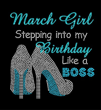 STEPPING INTO MY BIRTHDAY BOSS Rhinestone Digital Download