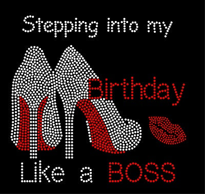 STEPPING INTO MY XX BIRTHDAY HEELS BOSS Rhinestone Download File