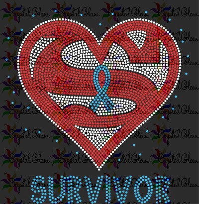 SUPER SURVIVOR Rhinestone Transfer