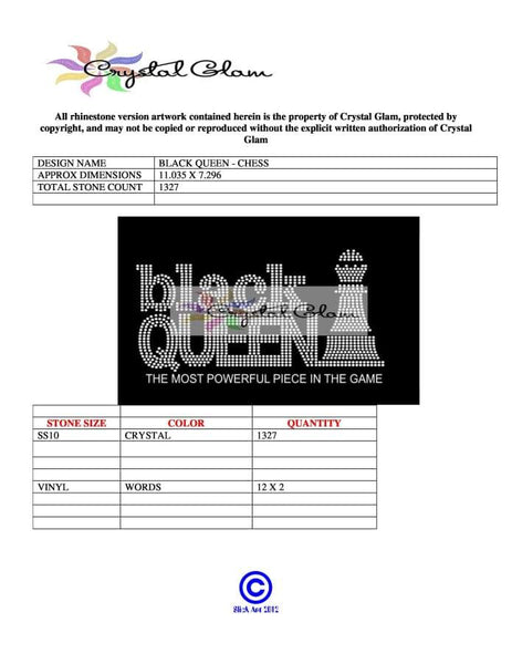 Black Queen Rhinestone Digital Download