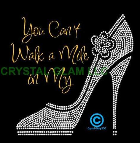 Mile In My Shoes Rhinestone Digital Download