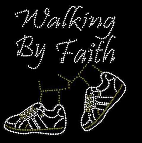 Walking By Faith Sneakers Rhinestone Digital Download