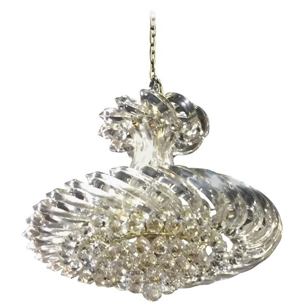 Mid-Century Chandelier Lucite and Decorative Balls