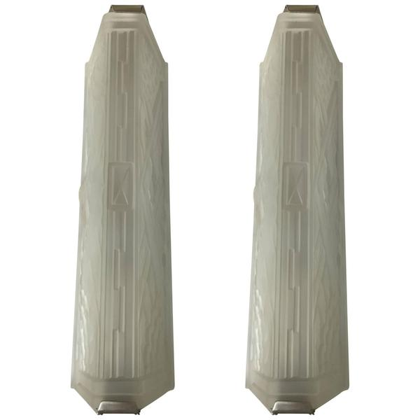 Incredible Pair of French Art Deco Corner Sconces