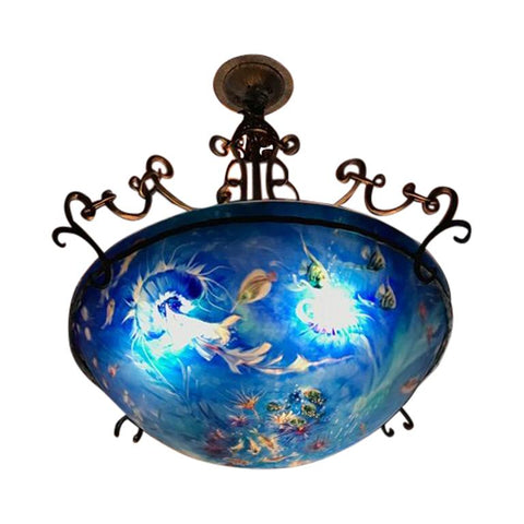 "Signed Original Ulla Darni ""Aquatic"" Chandelier"