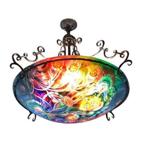 "Signed Original Ulla Darni ""Under Sea Garden"" Chandelier"