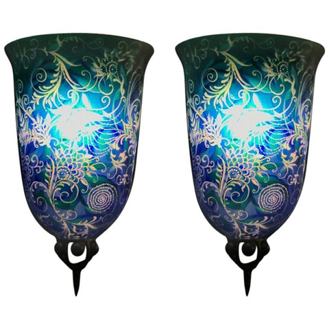 "Pair of Multiple Original Ulla Darni ""Swing Blue"" Sconces"