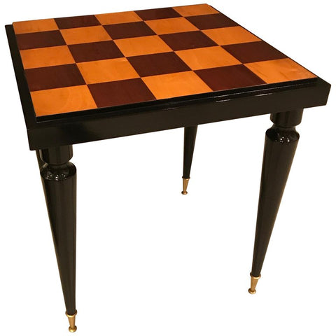 French Art Deco Ebony Game Table or Centre Table