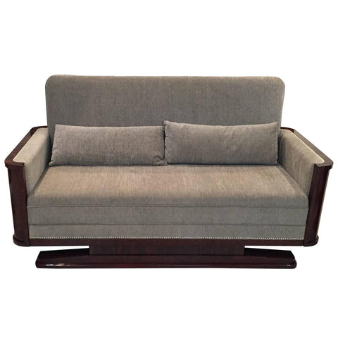French Art Deco Macassar Sofa, circa 1930