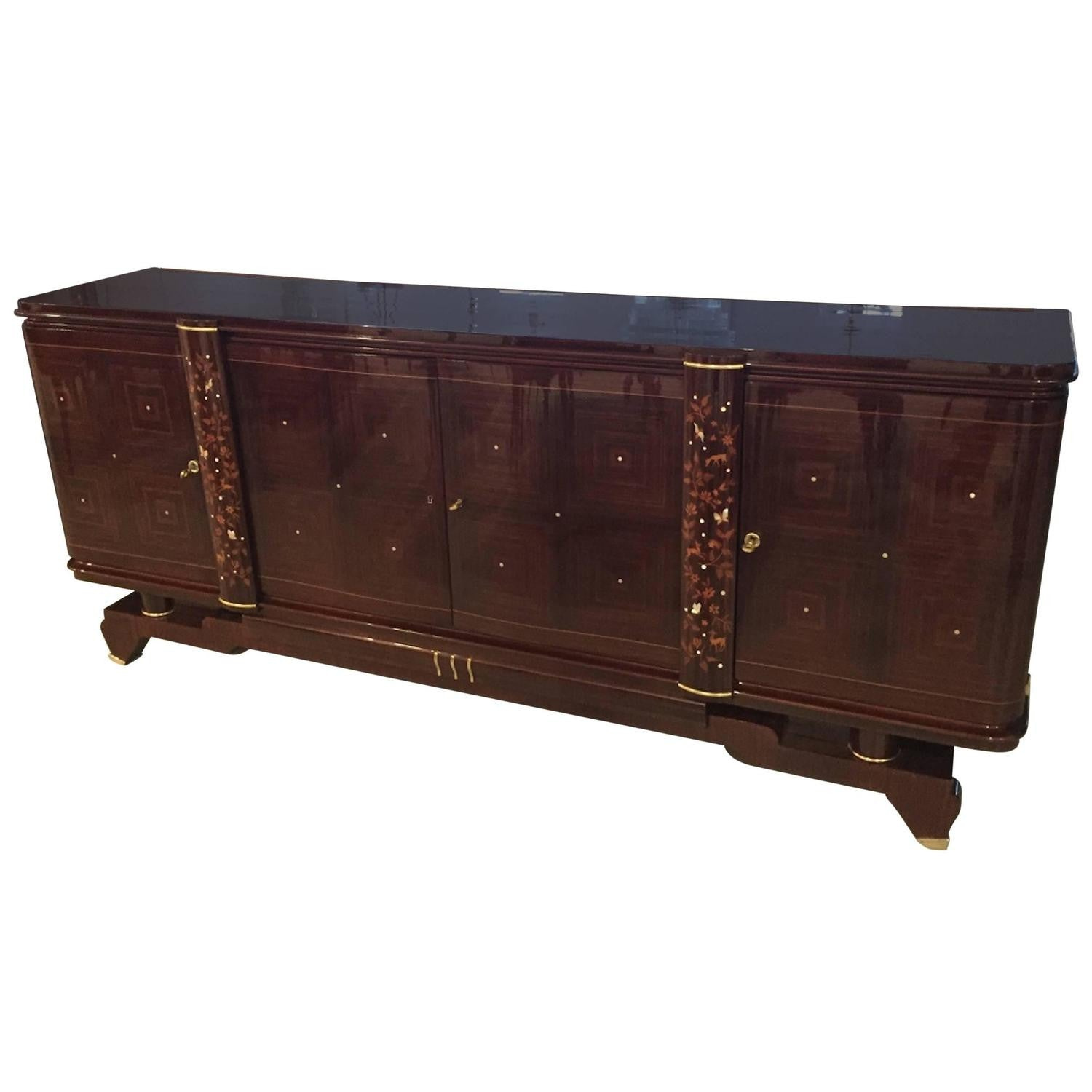 jules leleu style buffet french art deco 1920s 1 of a. Black Bedroom Furniture Sets. Home Design Ideas