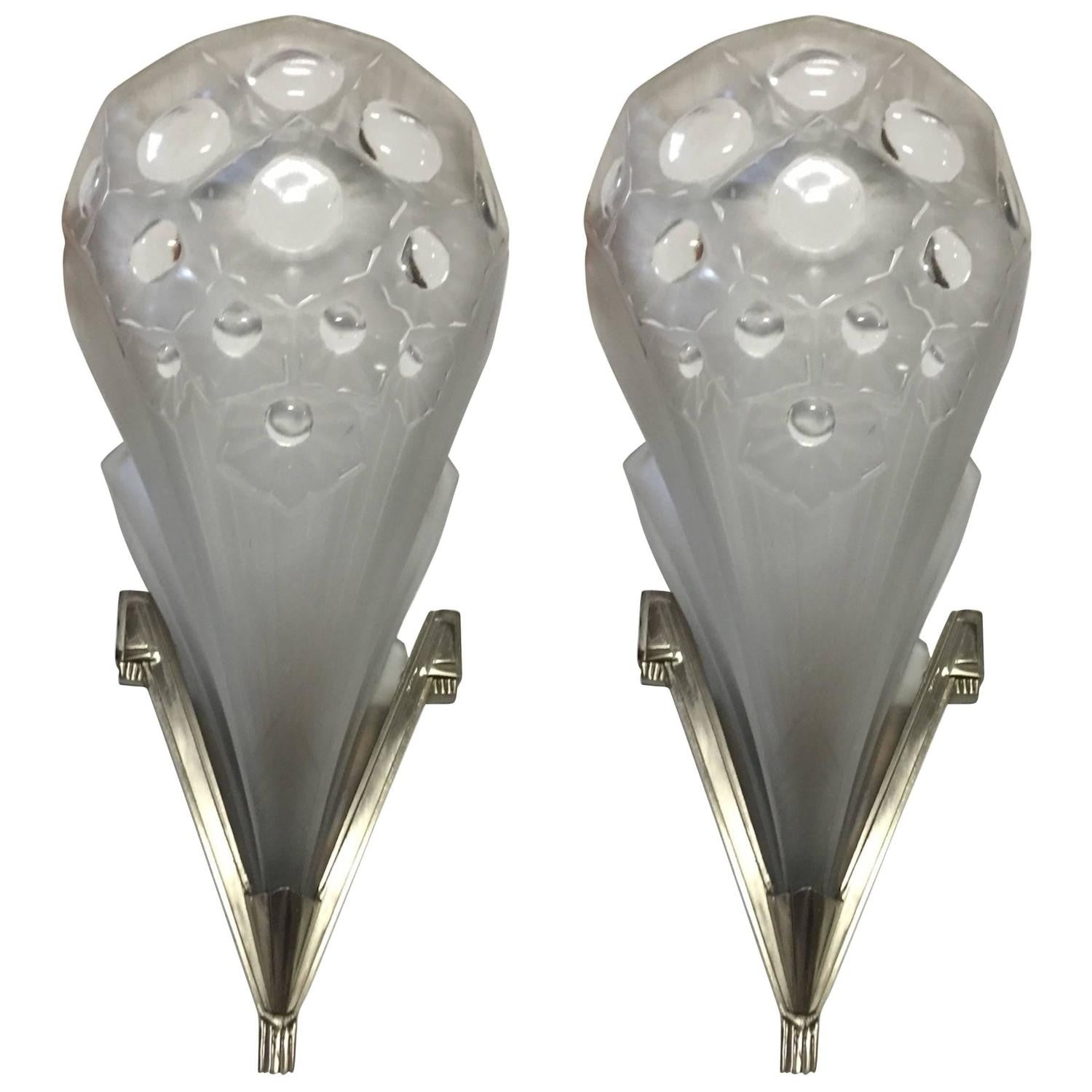 Pair of French Art Deco Wall Sconces – 1 of a Kind NJ