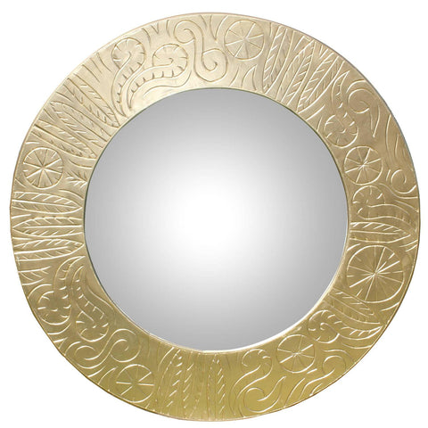 French Art Deco Gilt Wood Hotel Mirror, circa 1940