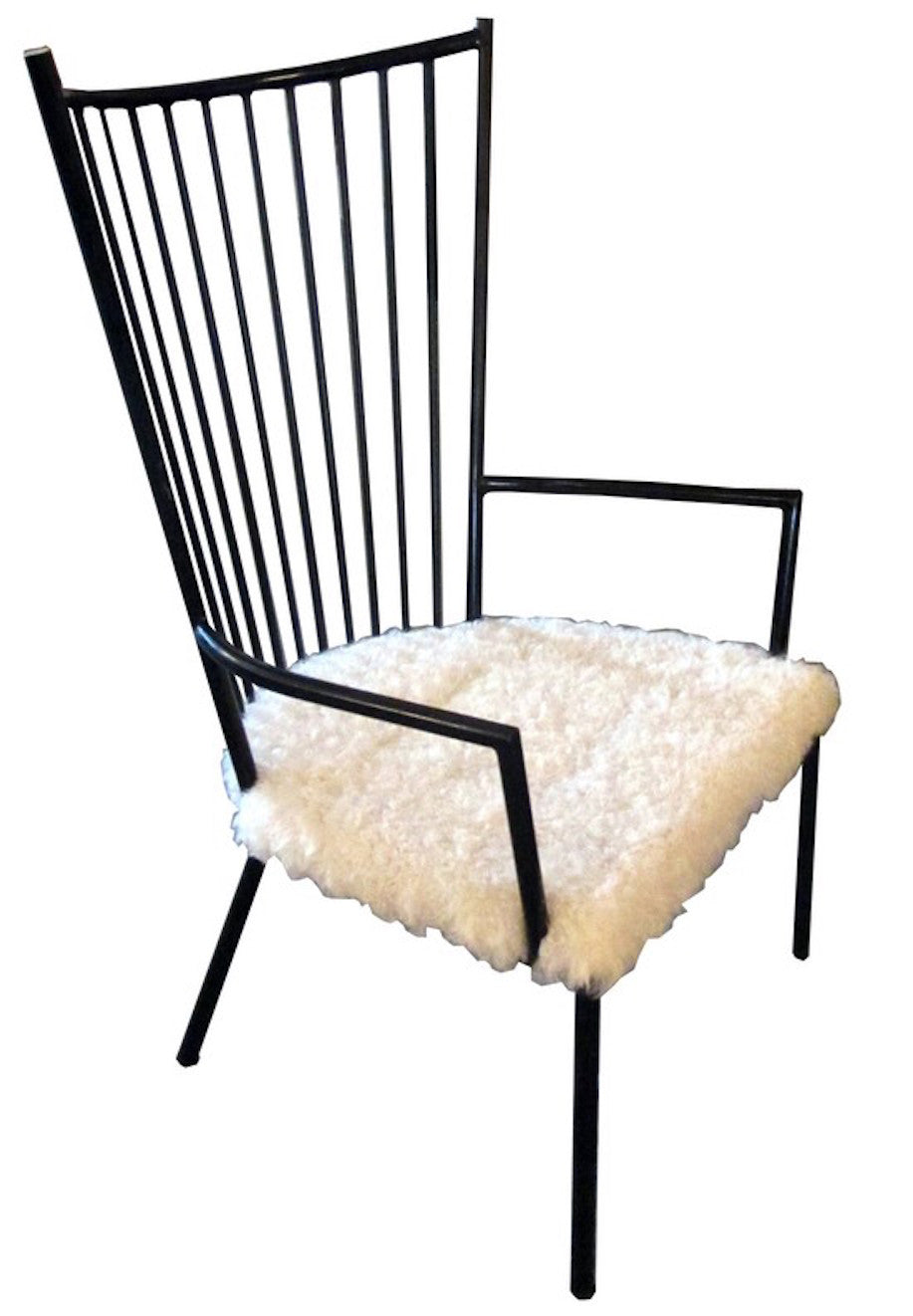 Cool French Mid Century Modern Armchair With Lambs Wool Seat Ocoug Best Dining Table And Chair Ideas Images Ocougorg