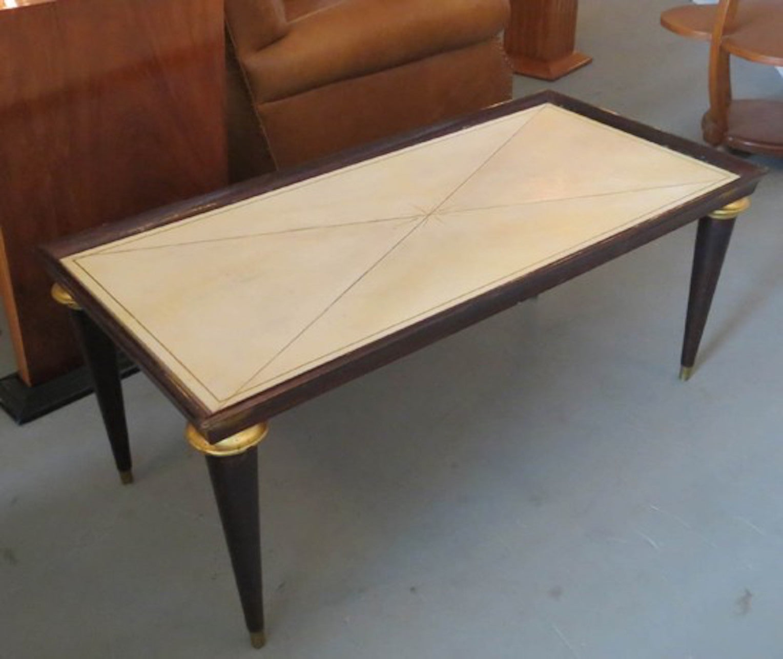 Jansen Coffee Table Maison Jansen French Art Deco Parchment Coffee Table 1 Of A Kind Nj