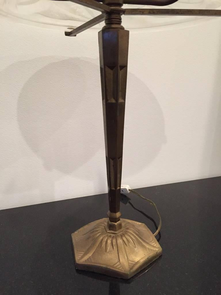 pair of signed degue french art deco table lamps 1 of a kind nj