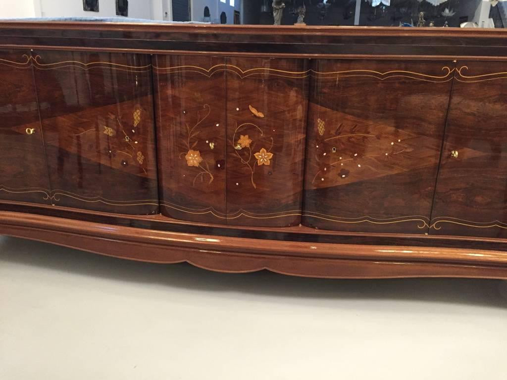 French Art Deco Six-Door Buffet in the Style of Jules Leleu – 1 of a ...