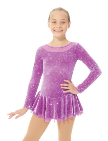 Mondor 2762 Born to Skate Shiny Velvet Dress