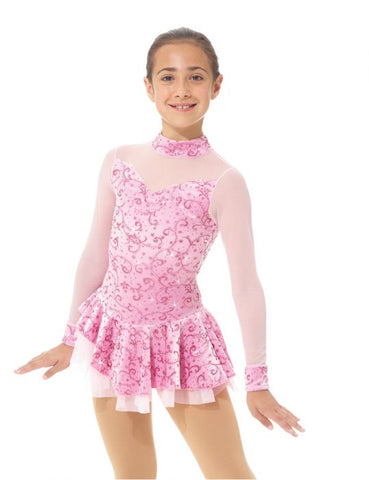 Mondor 2768 Born to Skate Mock Neck Glitter Dress