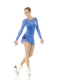 Fantasy on Ice Glitter Motif Velvet Dress