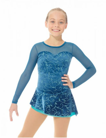 Mondor 12927 Fantasy on Ice Glitter Velvet Dress