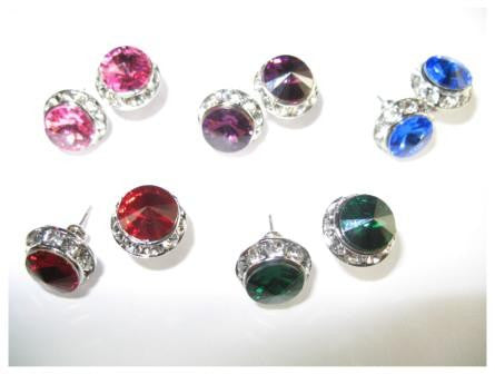 Starlight Crystal Earrings, 8mm size