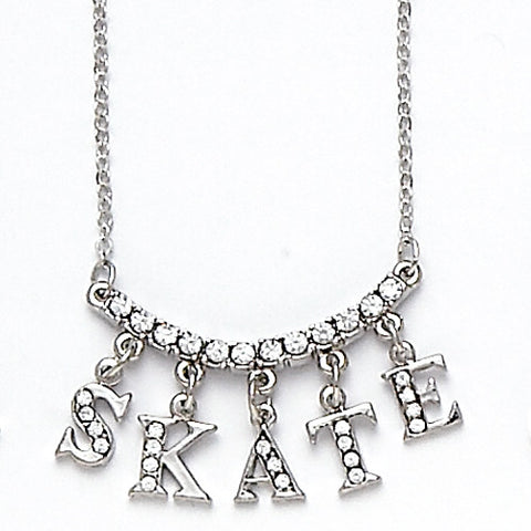 "Dasha 2736 ""Skate"" Word Necklace"