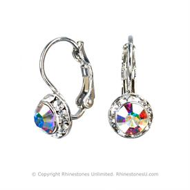Swarovski Crystal Earrings, 8mm size